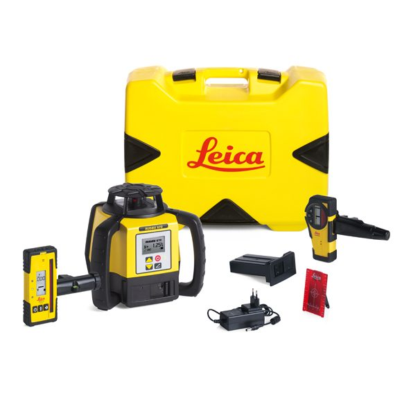 leica rugby 640 laser level package building construction construction lasers global survey. Black Bedroom Furniture Sets. Home Design Ideas